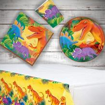 Prehistoric | Dinosaur 8 to 48 Guest Starter Party Pack - Tablecover | Cups | Plates | Napkins