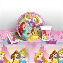Disney Princess 8 to 48 Guest Starter Party Pack - Tablecover | Cups | Plates | Napkins