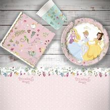 Disney True Princess 8 to 48 Guest Starter Party Pack - Tablecover | Cups | Plates | Napkins