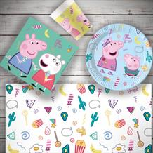Peppa Pig Treats Starter Party Pack Tablecover | Plates | Cups | Napkins