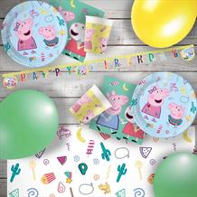 Peppa Pig Treats Premium Party Pack Tableware | Banner | Balloons