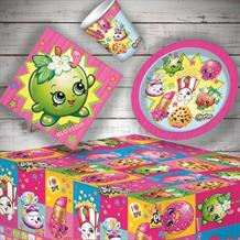 Shopkins 8 to 48 Guest Starter Party Pack - Tablecover | Cups | Plates | Napkins