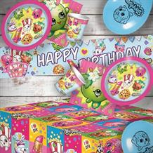 Shopkins 8 to 48 Guest Premium Party Pack - Tableware | Balloons | Decoration