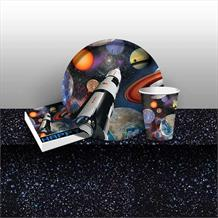 Space | Universe | Stars 8 to 48 Guest Starter Party Pack - Tablecover | Cups | Plates | Napkins