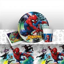Spiderman Team Up 8 to 48 Guest Starter Party Pack - Tablecover | Cups | Plates | Napkins