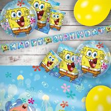 SpongeBob SquarePants 8 to 48 Guest Premium Party Pack - Tableware | Balloons | Decoration