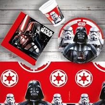 Star Wars Darth Vader & Storm Trooper Party 8 to 48 Guest Starter Party Pack - Tablecover | Cups | Plates | Napkins