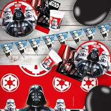 Star Wars Darth Vader & Storm Trooper 8 to 48 Guest Premium Party Pack - Tableware | Balloons | Decoration