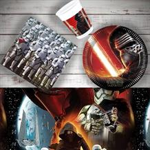 Star Wars Episode 7 | Force Awakens 8 to 48 Guest Starter Party Pack - Tablecover | Cups | Plates | Napkins
