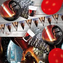Star Wars Episode 7 | Force Awakens 8 to 48 Guest Premium Party Pack - Tableware | Balloons | Decoration