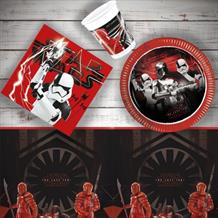 Star Wars Episode 8 | The Last Jedi 8 to 48 Guest Starter Party Pack - Tablecover | Cups | Plates | Napkins