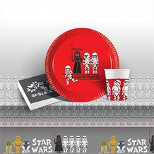 Star Wars Retro 8 to 48 Guest Starter Party Pack - Tablecover | Cups | Plates | Napkins