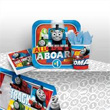 Thomas & Friends 2017 8 to 48 Guest Starter Party Pack - Tablecover | Cups | Plates | Napkins