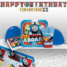 Thomas & Friends 2017 8 to 48 Guest Premium Party Pack - Tableware | Balloons | Decoration