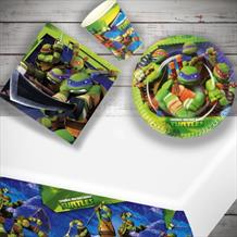 Teenage Mutant Ninja Turtles 8 to 48 Guest Starter Party Pack - Tablecover | Cups | Plates | Napkins