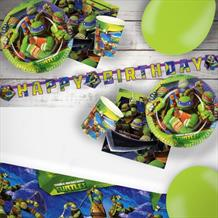 Teenage Mutant Ninja Turtles 8 to 48 Guest Premium Party Pack - Tableware | Balloons | Decoration