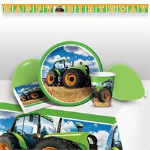 Tractor Time 8 to 48 Guest Premium Party Pack - Tableware | Balloons | Decoration