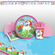 Unicorn 8 to 48 Guest Premium Party Pack - Tableware | Balloons | Decoration