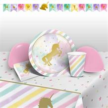 Unicorn Sparkle Party 8 to 48 Guest Premium Party Pack - Tableware | Balloons | Decoration