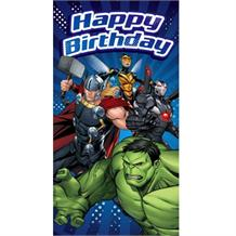 Marvel Avengers Happy Birthday Greeting Card