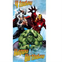 Marvel Avengers Age 4 Greeting Card