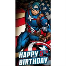 Captain America Age 5 Greeting Card