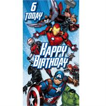Marvel Avengers Age 6 Greeting Card