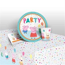 Peppa Pig Rainbow 8 to 48 Guest Starter Party Pack - Tablecover | Cups | Plates | Napkins