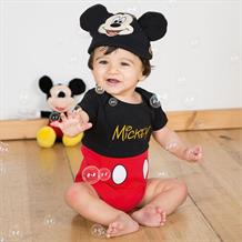 Mickey Mouse Baby Bodysuit Costume with Hat