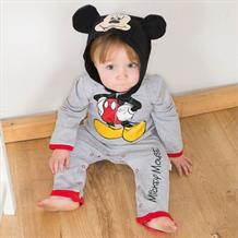 Mickey Mouse Baby Hooded Romper Costume