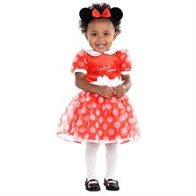 Minnie Mouse Red Baby Dress, Bloomers & Headband Costume