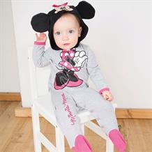 Minnie Mouse Baby Hooded Romper Costume