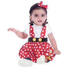 Minnie Mouse Baby Pinafore and Headband Costume