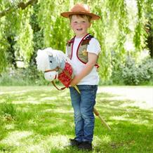 Cowboy Hobby Horse Childrens Dress Up Costume