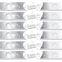 Diamond Wedding Anniversary Foil Banner
