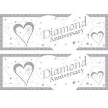 Diamond Wedding Anniversary Giant Party Banner