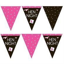 Hen Night L Plate Flag Banner | Bunting | Decoration