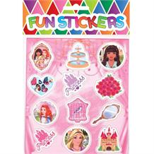 Pink Princess Sticker Sheet Party Bag Filler | Favour