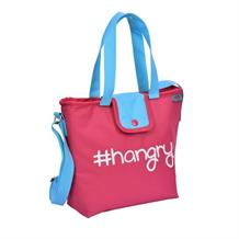 Polar Gear Pink #hangry Insulated Packed Lunch Cooler Tote Bag