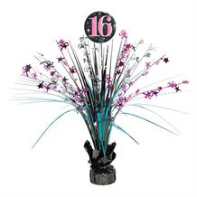 Sweet 16 Birthday Foil Spray Table Centrepiece | Decoration