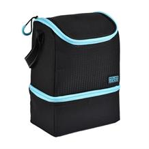 Polar Gear 2 Compartment Active Packed Lunch Cooler Bag Blue Optic Dot