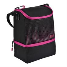 Polar Gear 2 Compartment Active Packed Lunch Cooler Bag Pink Optic Dot