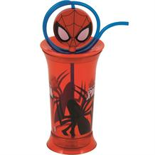 Ultimate Spiderman Plastic Tumbler with Straw