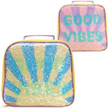 Good Vibes | Sunshine Sparkle Sequin Insulated School Lunch Bag