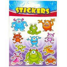 Monsters Party Bag Sticker Sheet Favour | Fillers