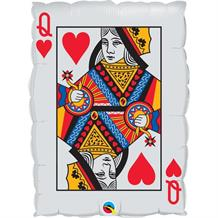 "Queen of Hearts | Playing Card Shaped 30"" Foil 