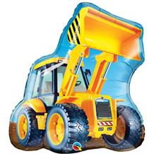 "Construction Digger Shaped 32"" Foil 