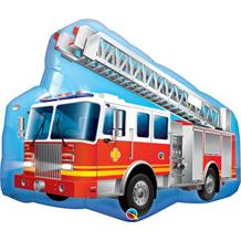 "Red Fire Truck | Engine Shaped 36"" Foil 