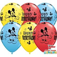 Mickey Mouse 25pk Happy Birthday Helium Quality Latex Balloons