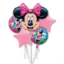 Minnie Mouse Party Foil | Helium Balloon Cluster | Bouquet